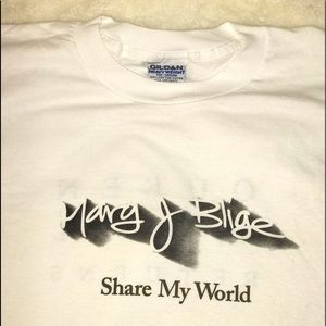 MARY J BLIGE ORIGINAL PROMO T-SHIRT     size XL
